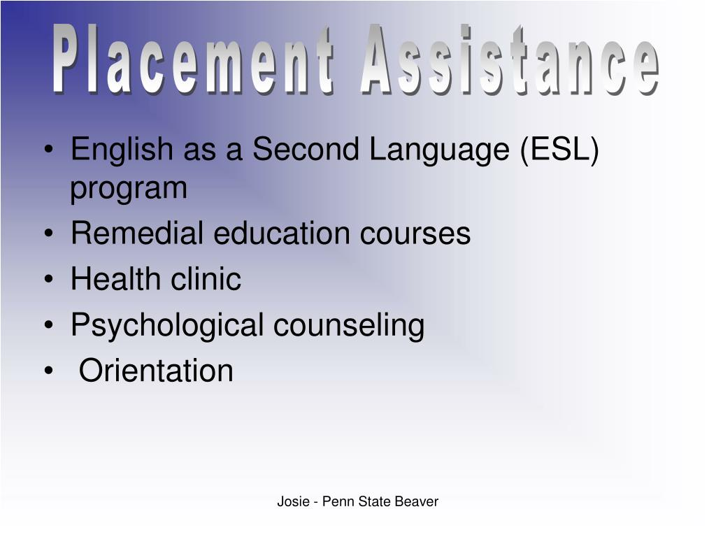 Placement Assistance