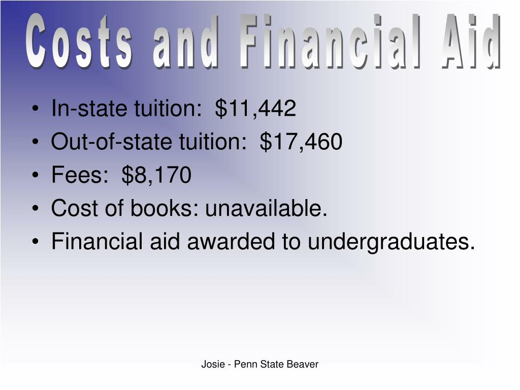 Costs and Financial Aid