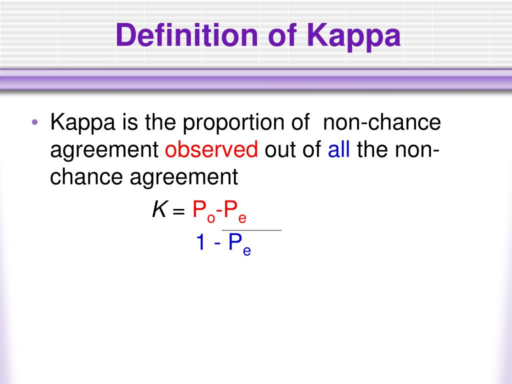 Definition of Kappa