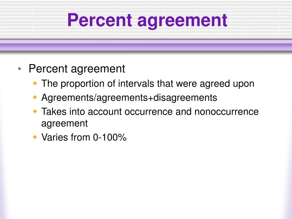 Percent agreement