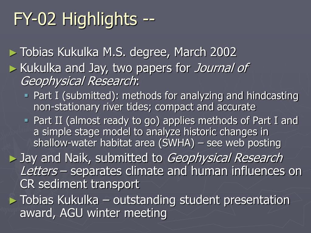 FY-02 Highlights --