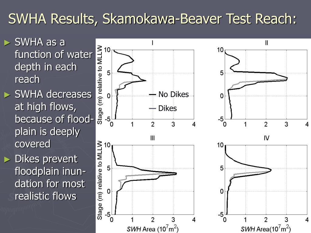 SWHA Results, Skamokawa-Beaver Test Reach: