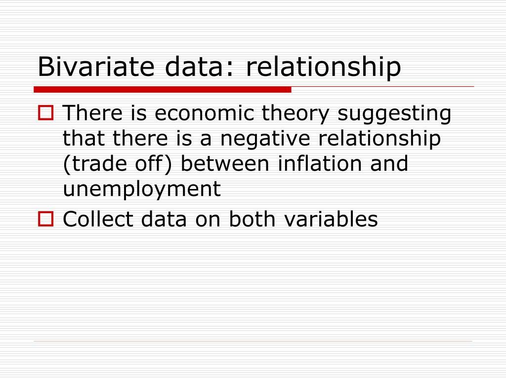 Bivariate data: relationship