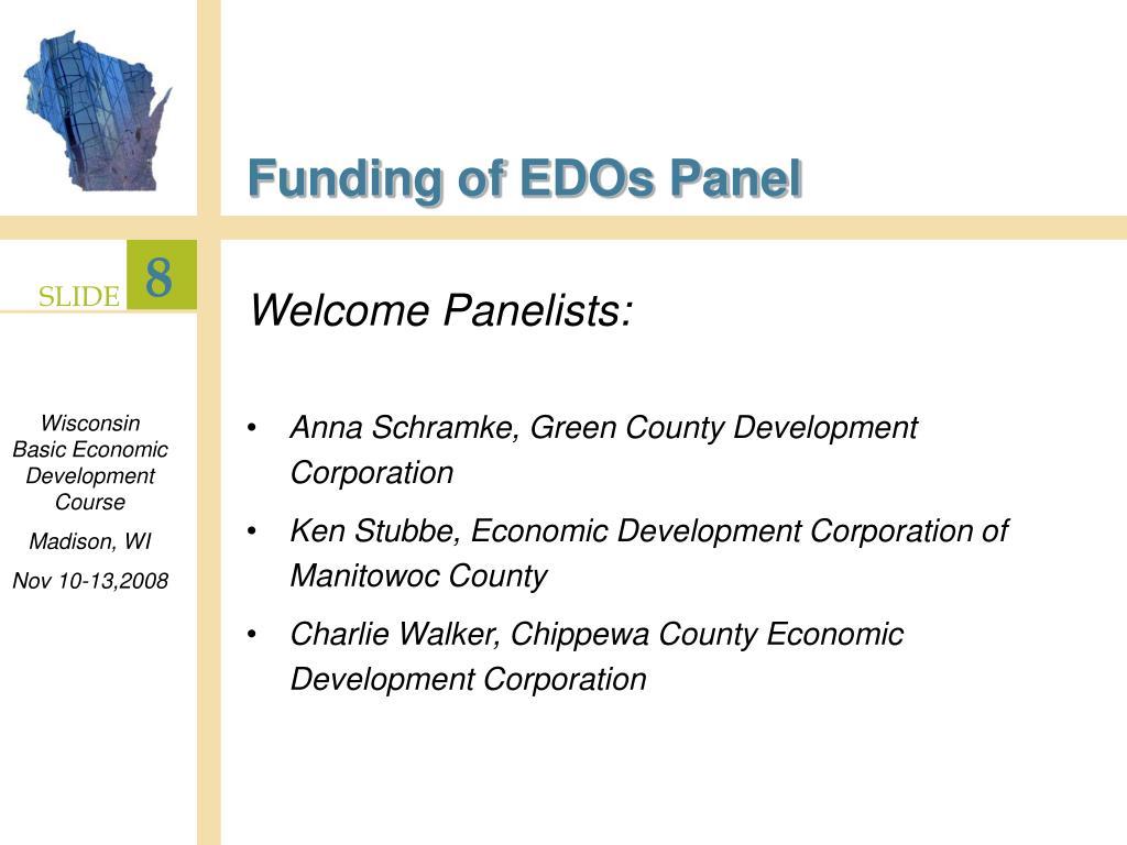Funding of EDOs Panel