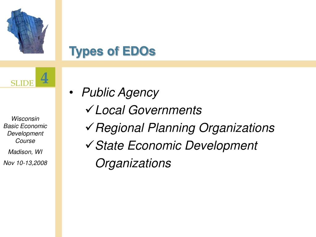 Types of EDOs