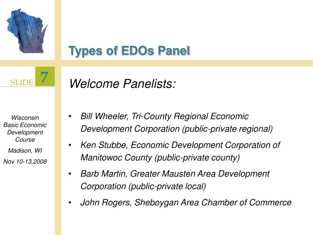 Types of EDOs Panel