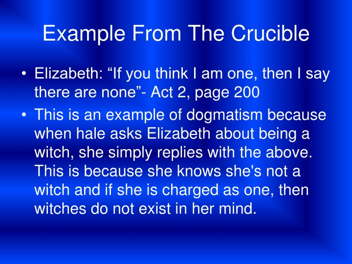 Example From The Crucible