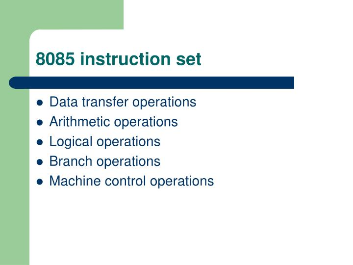 8085 instruction set
