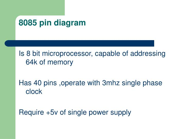 8085 pin diagram