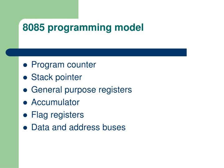 8085 programming model