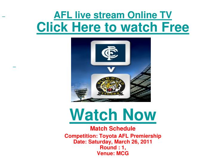 Afl live stream online tv click here to watch free