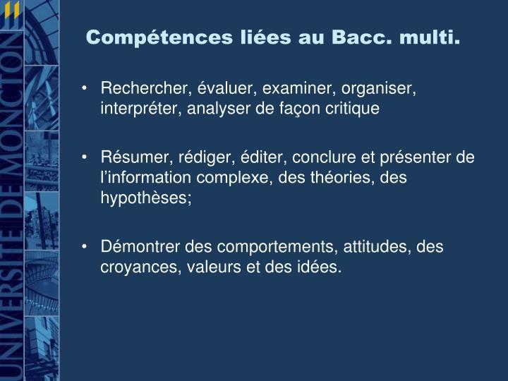 Compétences liées au