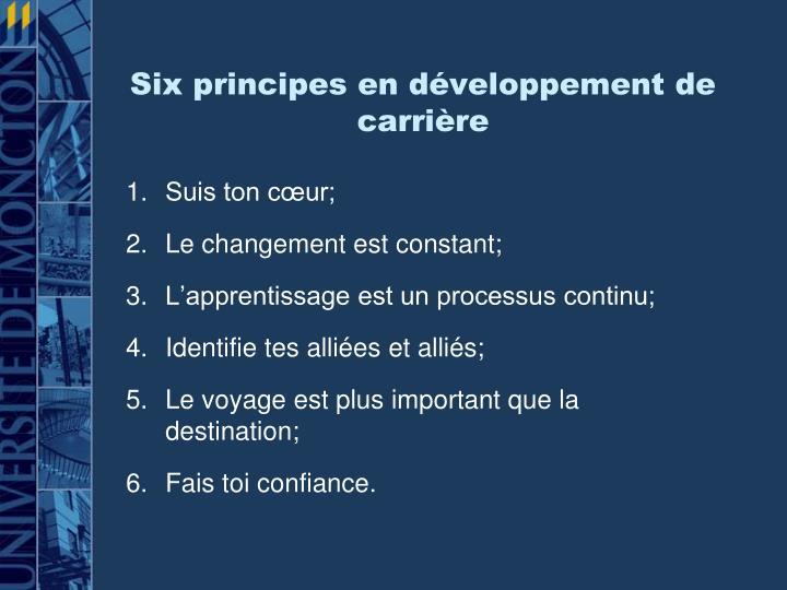 Six principes