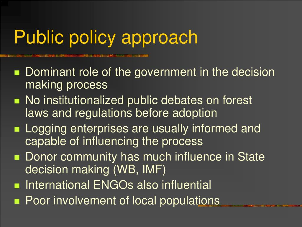 Public policy approach