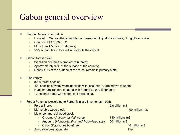 Gabon general overview