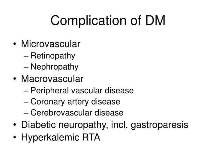 Complication of DM