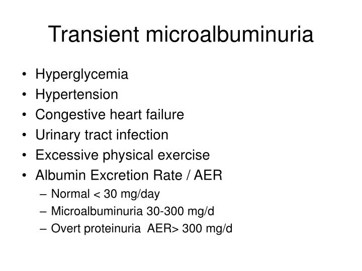 Transient microalbuminuria