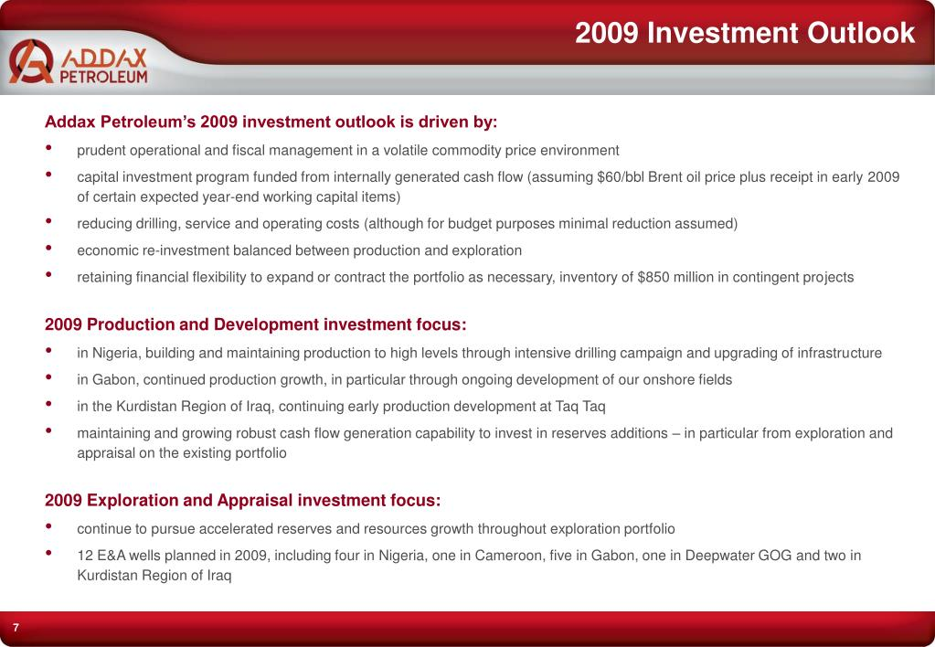 2009 Investment Outlook
