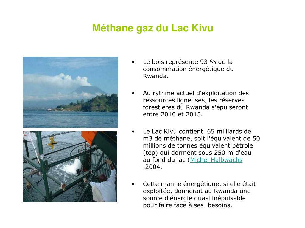 Méthane gaz du Lac Kivu
