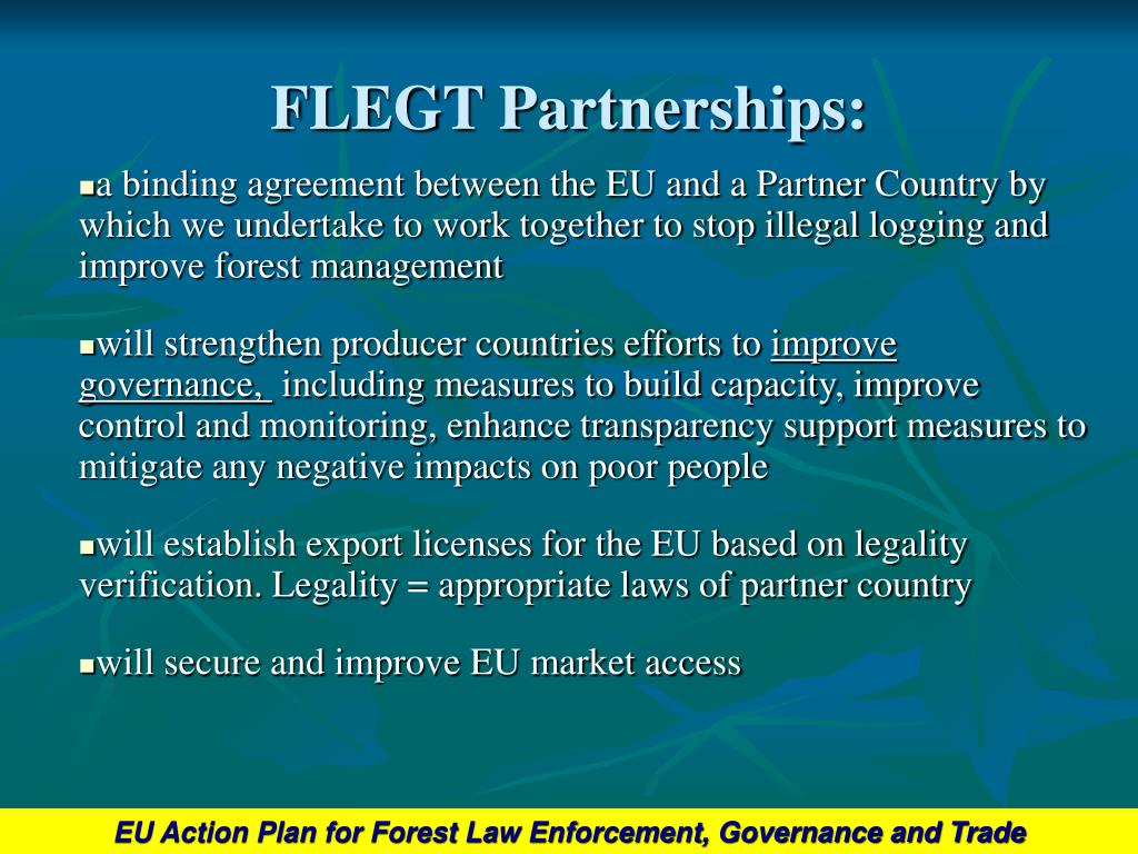 FLEGT Partnerships: