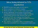 ideas being debated in vpa negotiation