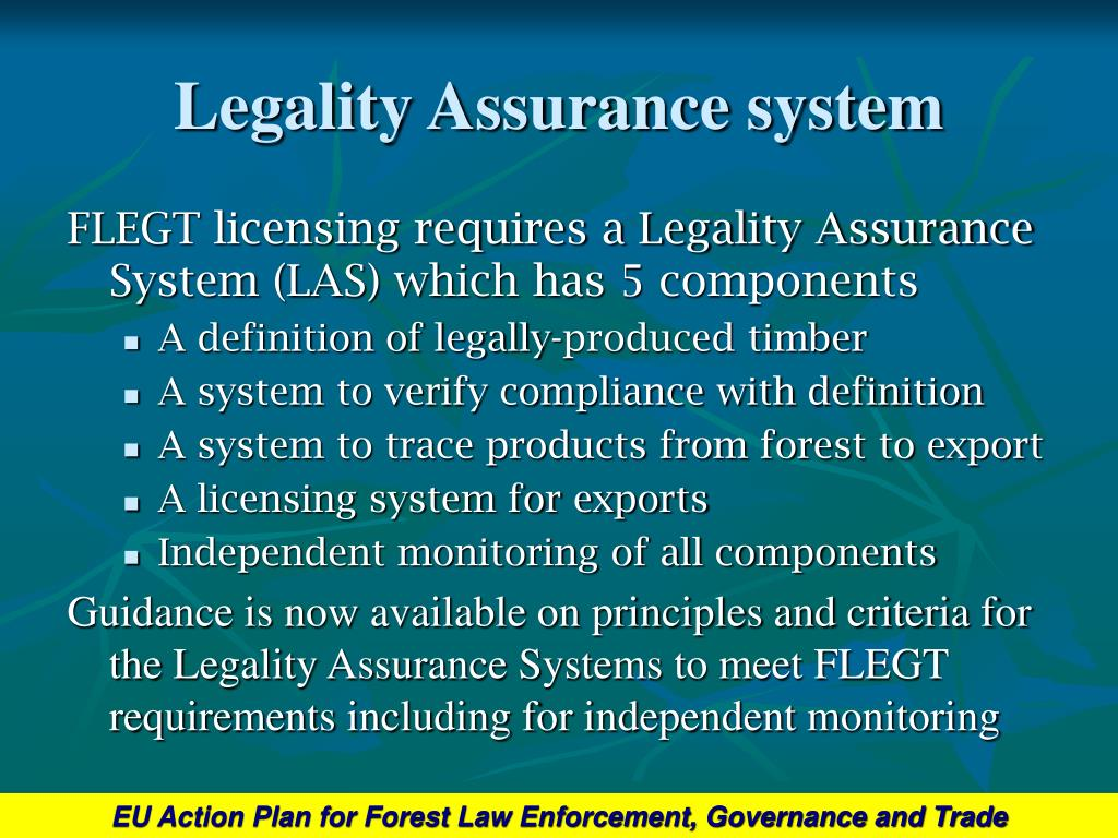 Legality Assurance system