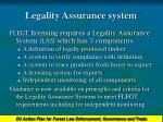 legality assurance system