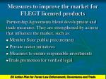 measures to improve the market for flegt licensed products