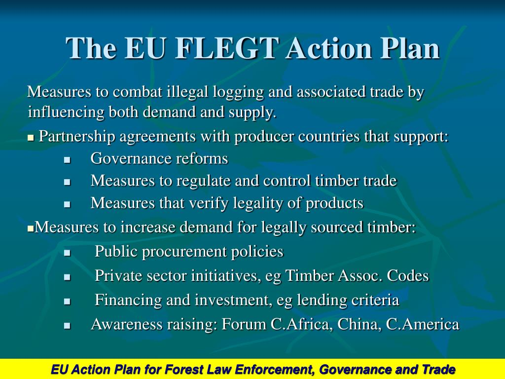The EU FLEGT Action Plan