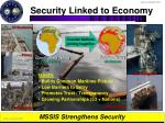 security linked to economy