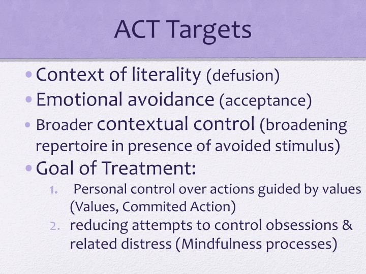 ACT Targets