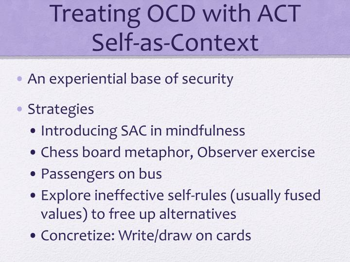 Treating OCD with ACT Self-as-Context