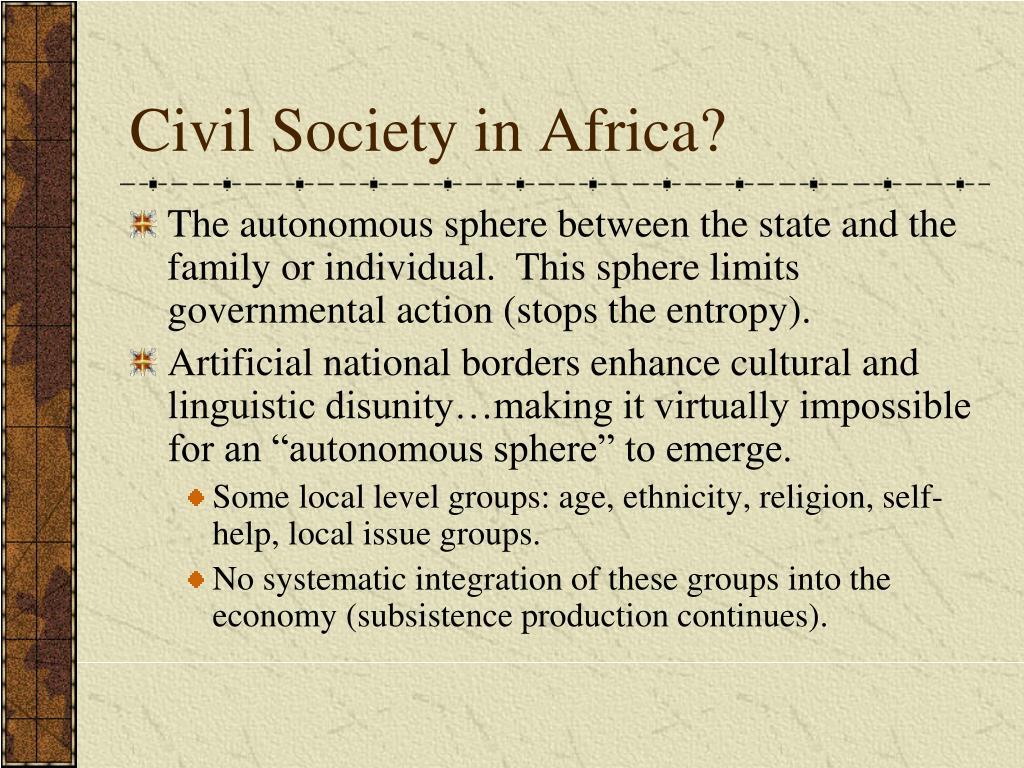 Civil Society in Africa?