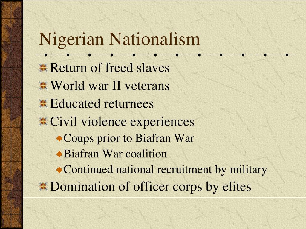 Nigerian Nationalism