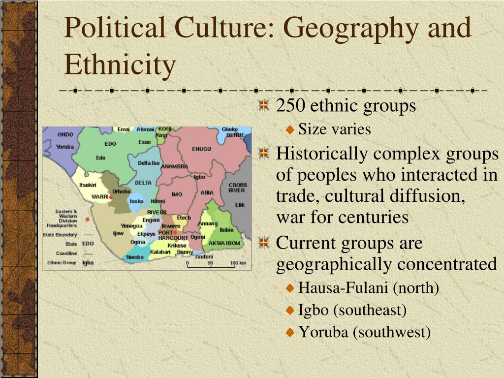Political Culture: Geography and  Ethnicity