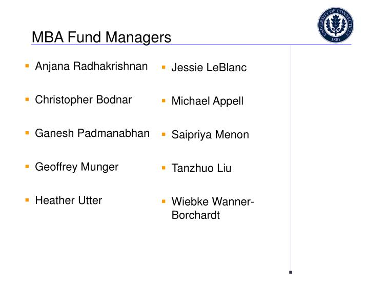 Mba fund managers