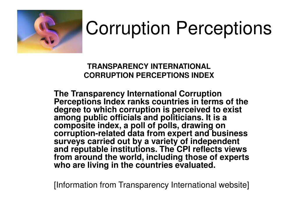 Corruption Perceptions