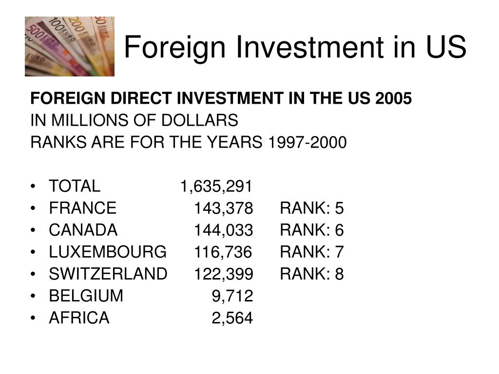 Foreign Investment in US