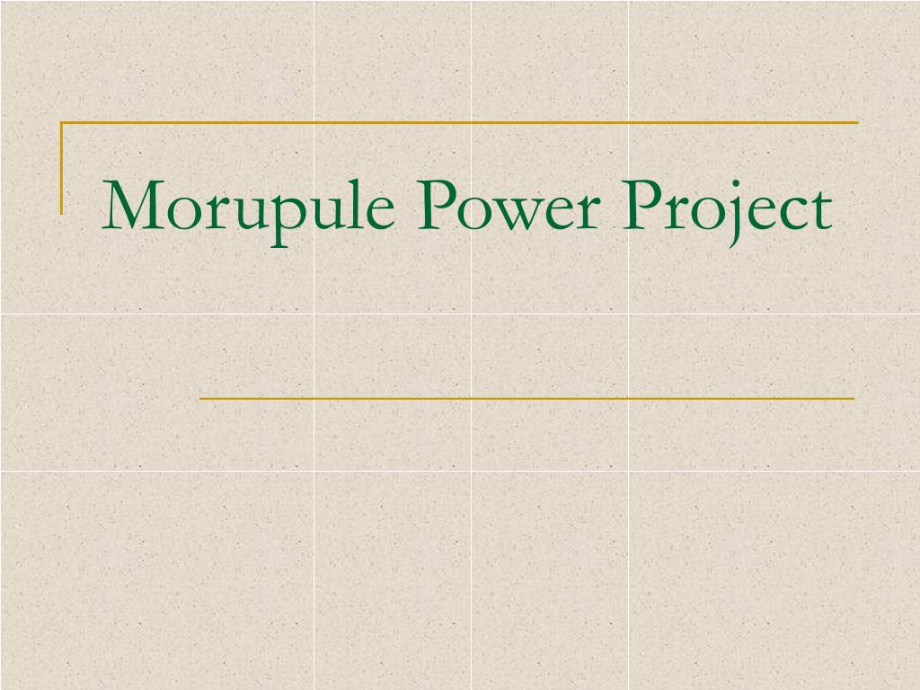 Morupule Power Project