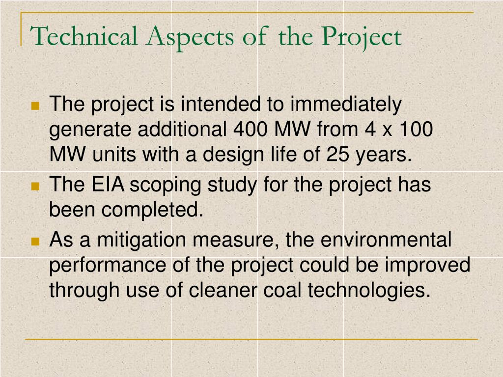 Technical Aspects of the Project
