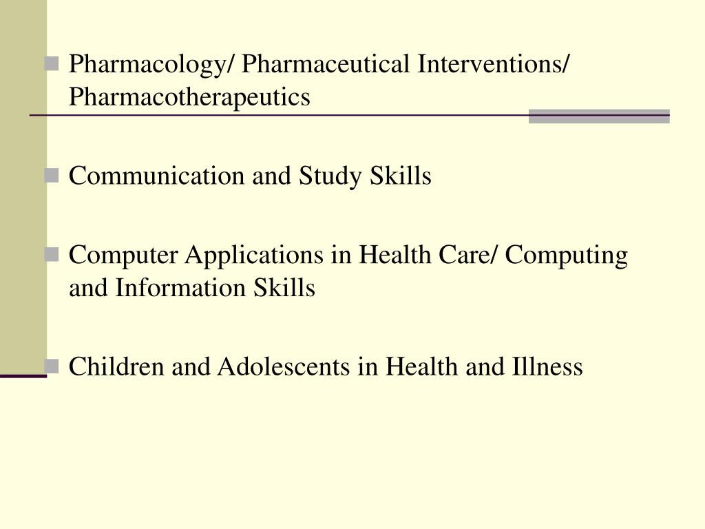Pharmacology/ Pharmaceutical Interventions/ Pharmacotherapeutics