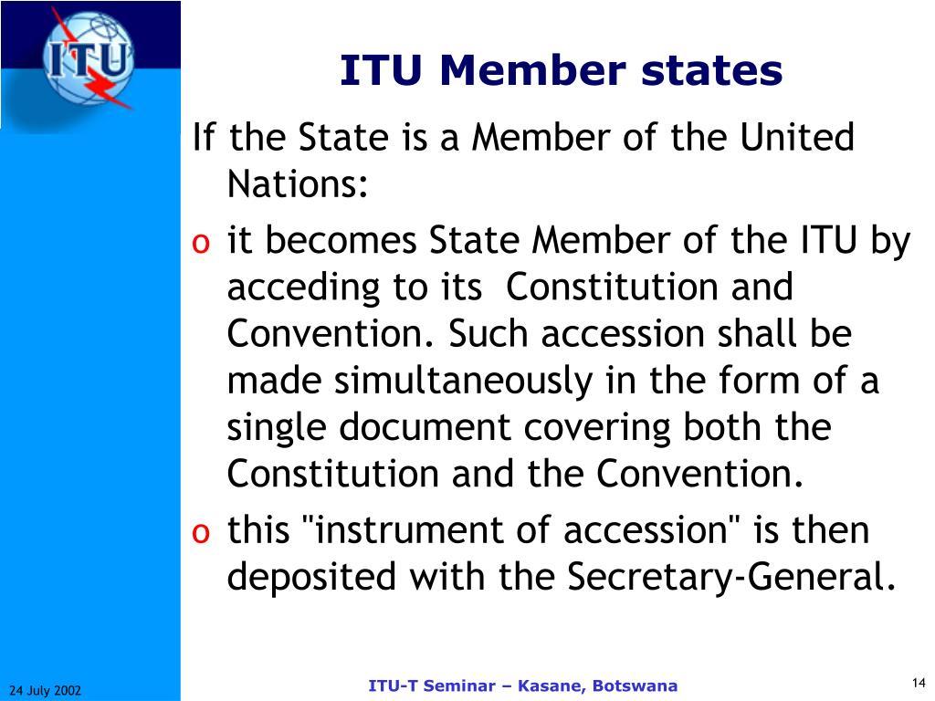 ITU Member states