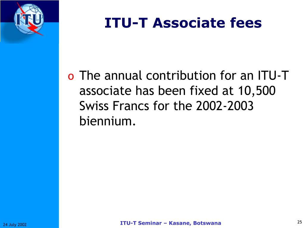 ITU-T Associate fees