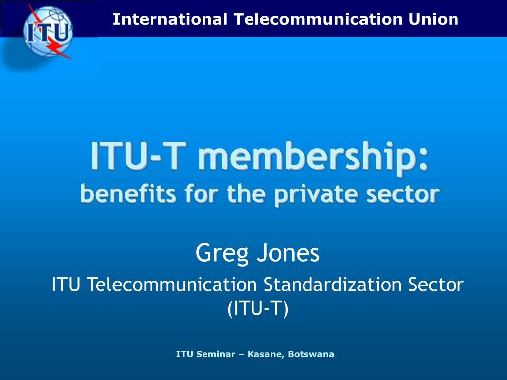 ITU-T membership: