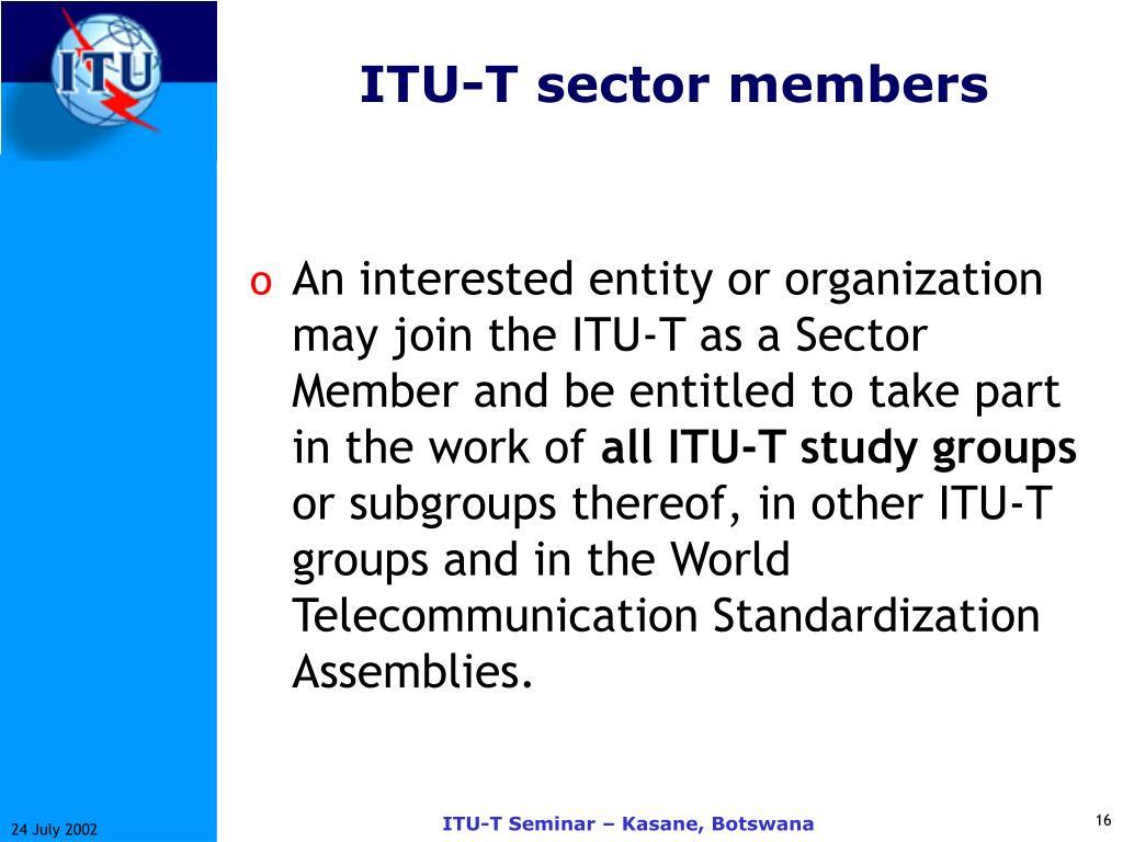 ITU-T sector members