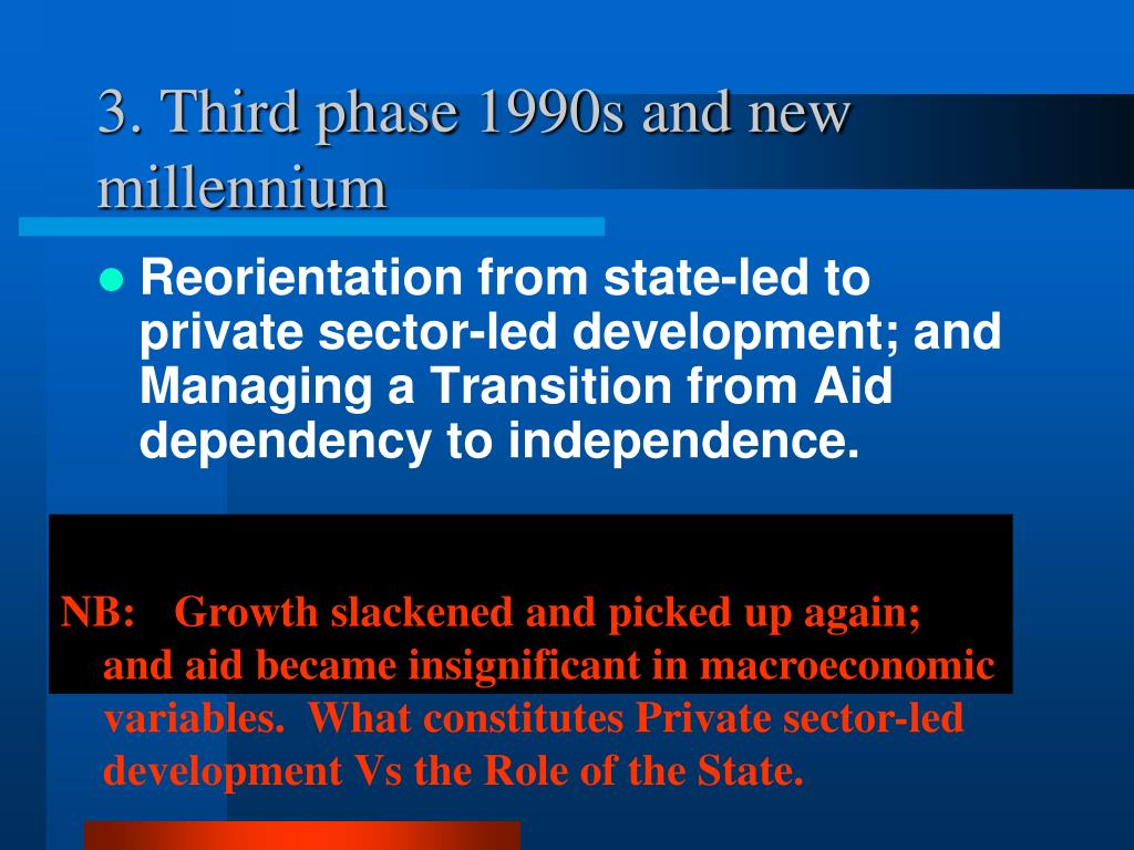 3. Third phase 1990s and new millennium