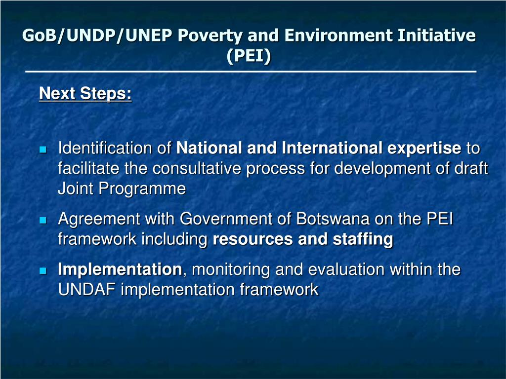 GoB/UNDP/UNEP Poverty and Environment Initiative (PEI)