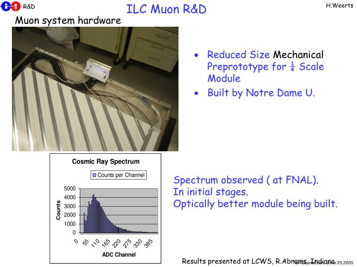 Reduced Size Mechanical Preprototype for ¼ Scale Module
