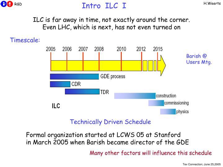 Intro  ILC  I