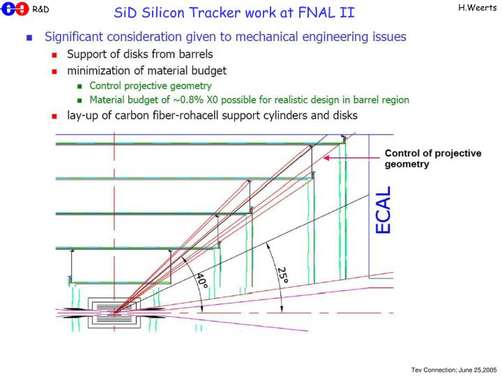 SiD Silicon Tracker work at FNAL II